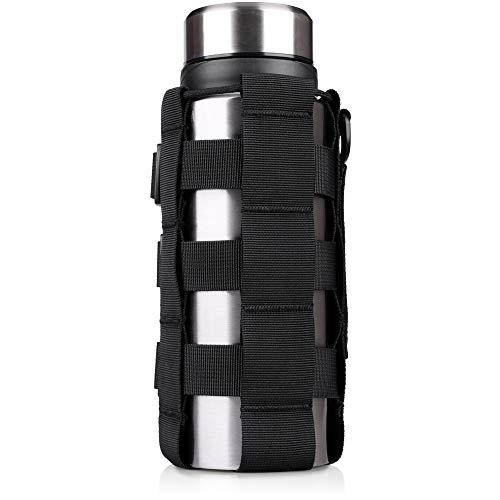 WYNEX Tactical Water Bottle Pouch of Weave Design, MOLLE Bottle Holder Kettle Pouches Hydration Carrier Bag, Ajustable H20 Bottle Holster Waist Pack para Hydro Flask, Nalgene, Contigo Bottle