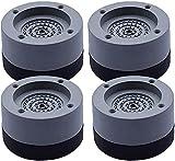 4 Pièces Coussin de Pieds de Machine à Laver, Coussin de Pieds de Laveuse Anti-vibrations,Coussin de Pied en Caoutchouc Antidérapant pour Sèche-linge, Lave-vaisselle, Réduire le Bruit