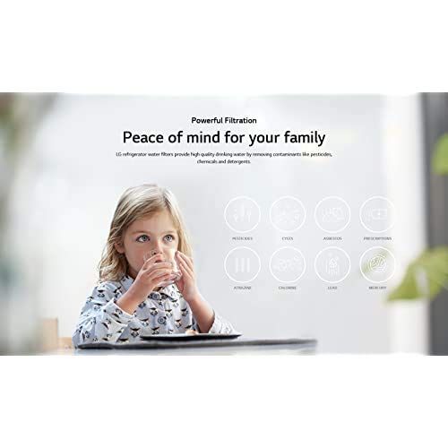 LG LT700P Replacement 200 Gallon Capacity Refrigerator Water Filter (ADQ36006101)