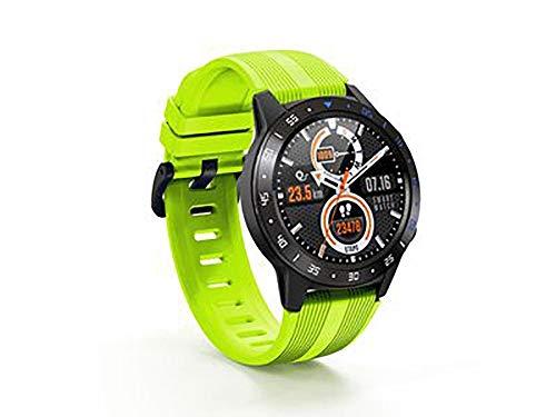 Reloj inteligente, de alta definición táctil, detección de salud, modo deportivo, control de música, compatible con Android e iOS (color: amarillo)