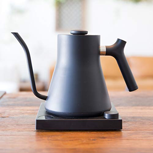Fellow Stagg EKG,  Pour-over Kettle For  And , Matte Black, Variable Temperature Control, 1200 Watt Quick Heating, Built-in Brew Stopwatch