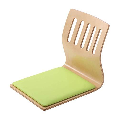 YLCJ tuinstoel, achterstoel, zonder poten en Japan, geschikt voor thuis of kantoor, multifunctionele familie (kleur: stof natuur, maat: groot) L Natural Green Skin