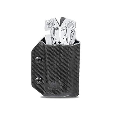 Kydex Multitool Sheath for Gerber SUSPENSION NXT - Made in USA - Multi Tool Sheath Holder Cover Belt Pocket Holster - Multi-tool not included (Carbon Fiber Black)