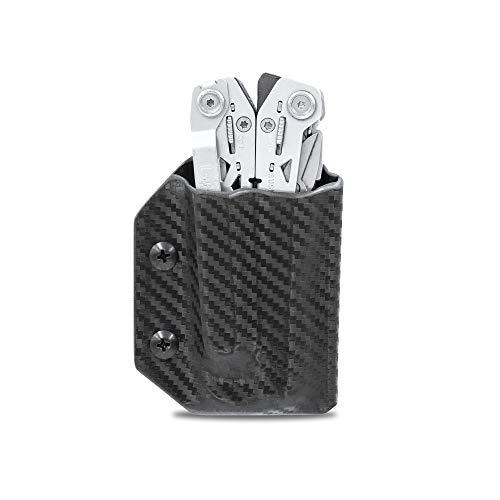 Kydex Gaine pour outil multifonction Gerber Suspension NXT – Fabriqué aux États-Unis – Étui de ceinture pour outils multifonctions – Outil multifonction non inclus, Fibre de carbone Noir