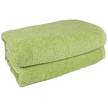 SALBAKOS 40 x80  Turkish Cotton Bath Sheet, Luxury, Eco-friendly Large Oversized (40x80, Green)