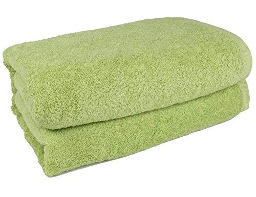"SALBAKOS 40""x80"" Turkish Cotton Bath Sheet, Luxury, Eco-Friendly Large Oversized (40x80, Green)"