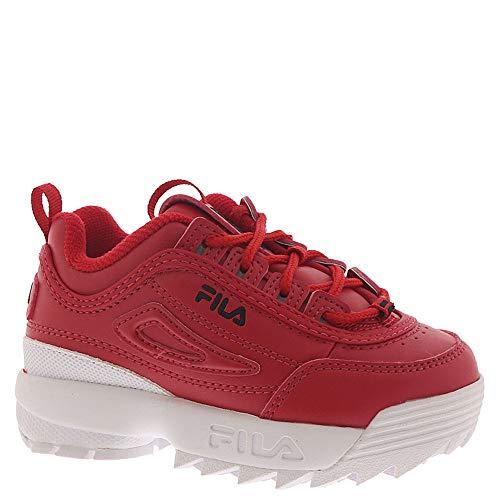 Fila Disrupter II I Boys' Infant-Toddler Sneaker 9 M US Toddler Red-White-Black