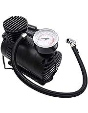 Draagbare mini-luchtcompressor, 12 V, 300 psi, elektrische rubberen banden, luchtpomp, elektrische compressor, met manometer, 12 V 300 psi