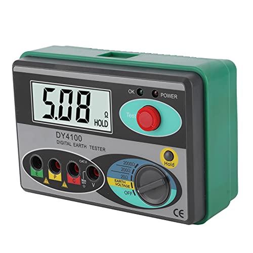 Mètre de Résistance à la Terre Numérique LCD de Haute Précision avec Outil D'inspection D'indicateur à LED
