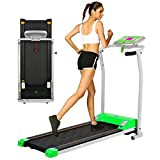 OppsDecor Folding Electric Treadmill for Home Running Machine Fitness Exercise Machine Power Motorized with Pulse Grip and Safety Key
