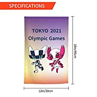Xmbeirui 2021オリンピック旗 大日本帝国旗 Flag スポーツ用品 ポリエステル繊維素材 防水生地 装飾旗 旗 ガーデンフラッグ(30x45)オリンピック競技 Olympic Games2021qdz08
