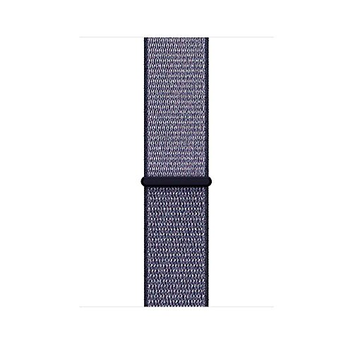 MUEN Cinturino Compatibile per Apple Watch 38mm/42mm, Morbido Nylon Cinturini per iWatch Apple Serie 4, Serie 3, Serie 2, Nike+, Hermès, Edition (38mm/40mm, Blu Notte)