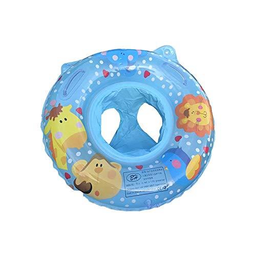 weichuang Anillo de natación para bebé, para baño, natación, flotador, flotador, flotador, hinchable, piscina, anillo inflable de doble seguridad (color: azul nuevo)