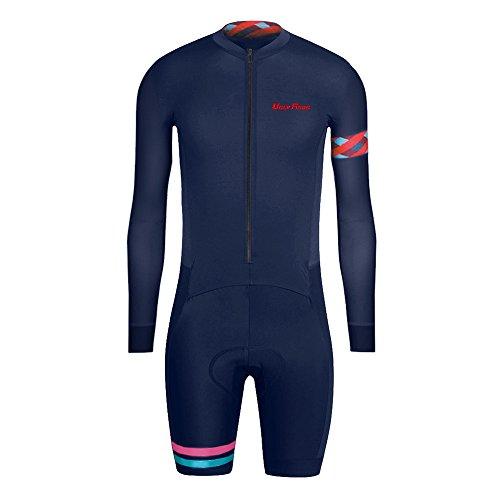 Uglyfrog - Tuta da uomo a maniche lunghe, in lycra per triathlon Duathlon, da ciclismo e da ciclismo, in jersey, con gambe corte, imbottite, un pezzo