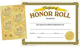 Honor Roll Certificates and Award Seals Combo Pack