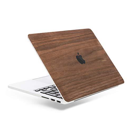 Woodcessories - Skin kompatibel mit MacBook 13 Pro Touchbar/Retina aus Holz - EcoSkin (Walnuss)