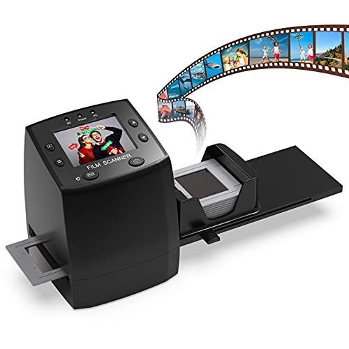 DIGITNOW!Film Scanner Diapositive e Negativi Fotografico con 2.4''LCD Converte Negativo 35mm/135 al Digitale JPEG 3600DPI Alta Risoluzione Convertitore,Nessun PC e software Richiesto