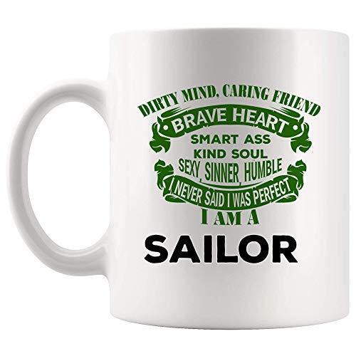 jingqi Stolze Seemann Kaffeetasse Tasse Tassen Freund motivierende Arbeit Zitate Marine Mariner Seefahrer Seemann Lustiges Weltgeschenk Seemann Seefahrer Seefahrer