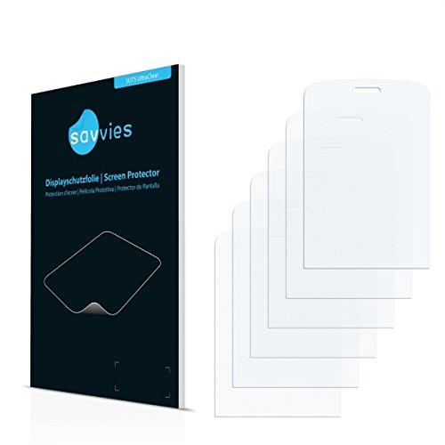 6x Savvies SU75 UltraClear Displayschutz Schutzfolie für Olympia Brio Touch (ultraklar, einfach anzubringen)