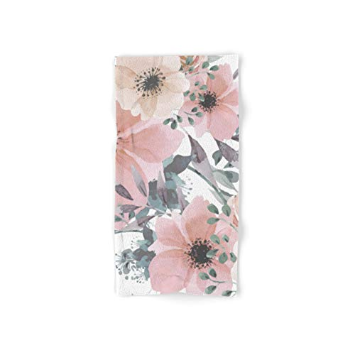 Society6 Watercolor, Blush Pink and Peach, Floral Prints by Megan Morris on Hand Towel - Hand Towel