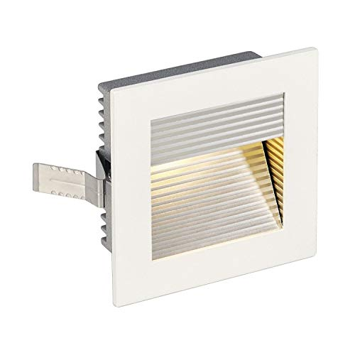SLV LED Einbauleuchte Frame Curve | Wand- und Deckenleuchte zum Einbau | Eckig, Weiß, 3000K Warmweiß | Stilvolle Wandleuchte, Einbau-Strahler LED Treppen-Beleuchtung, Stufen-Licht, Treppenlicht