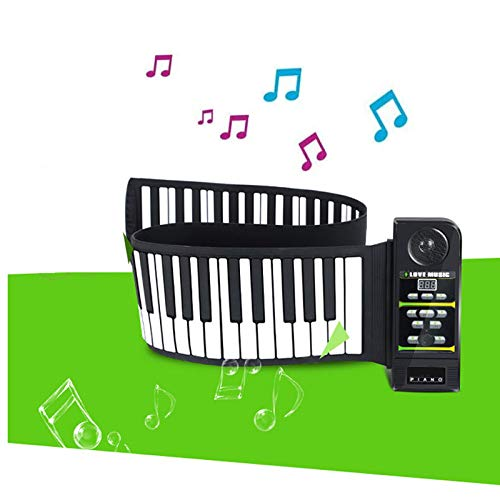 Best Price JJCFM 88 Key Hand Roll Piano, Portable Thickened Version Electronic Keyboard, Children's Entry Silicone Can Be Rolled Keyboard, for Kids, Adults and Beginners