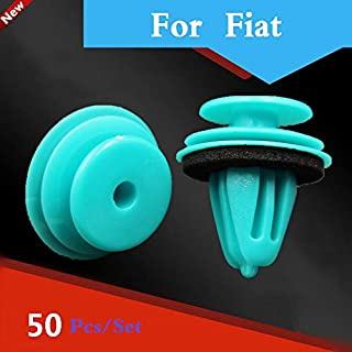 50pcs Green Auto Car Styling Door Trim Panel Plastic Rivet Clip Fastener for Fiat Siena Sedici