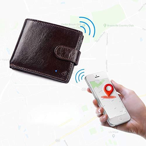 Billetera Inteligente, Billeteras De Cuero para Hombres, Billetera con Buscador De Rastreador Inteligente GPS para Hombres, Billetera En Efectivo para Tarjetas De Crédito De Negocios De Viajes