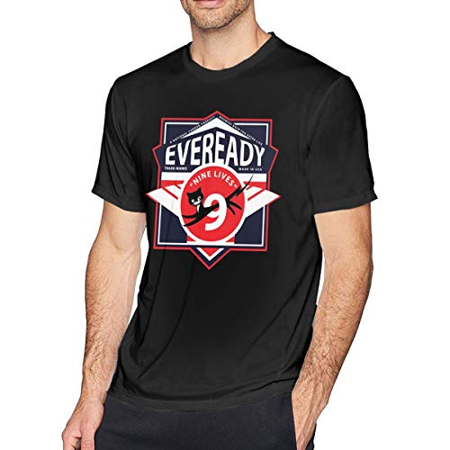QDGERWGY Eveready Battery1 Men's Short Sleeve t-Shirt Black