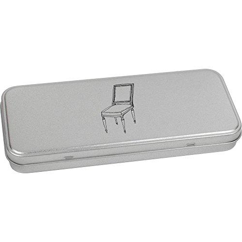 Azeeda 180mm x 75mm 'Chaise Vintage' boîte de Papeterie métal (TT00038611)
