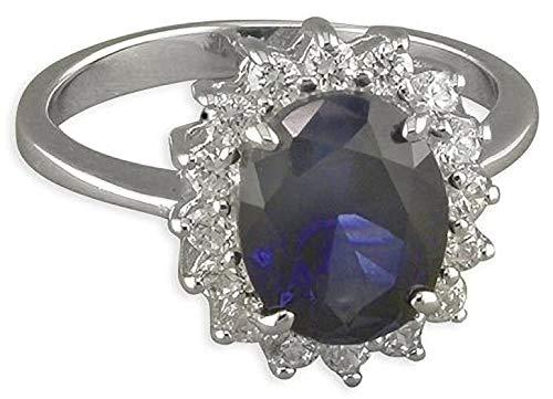 Designer Inspirations Boutique   925 Sterling Silver  sterling zilver Oval    Saffier