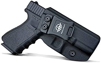 Glock 19 Holster IWB Kydex Holster for Glock 19 19X Glock 23 Glock 25 Glock 32 Glock 45 (Gen 3 4 5) - Inside Waistband Carry Concealed Holster Glock 19 IWB Pistol Case (Black, Right Hand)