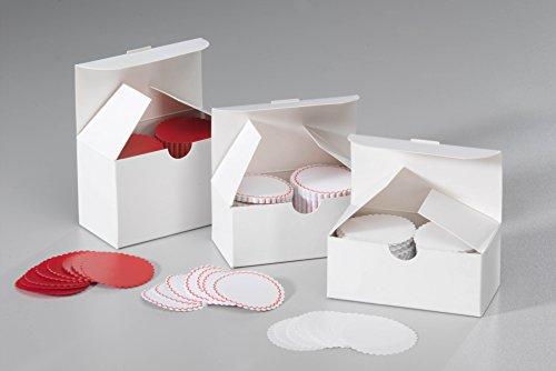 Siegelsterne gummiert Ø 51 mm weiß Pack á 1.000 Stück Siegelmarken Sterne aus Papier