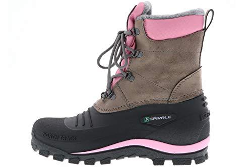 SPIRALE Damen Winterstiefel Snowboots schwarz/braun/rosa, Größe: 39 Farbe: Rosa - 5