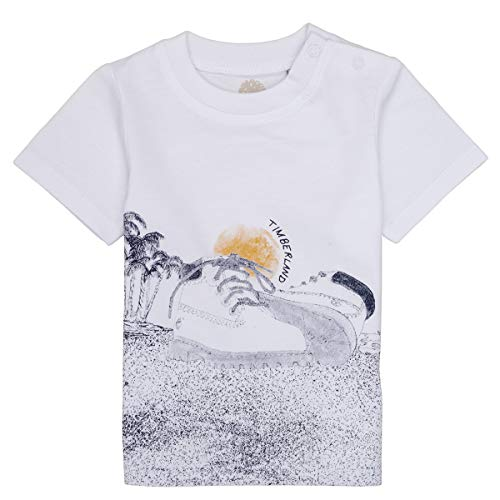 Timberland T-Shirt 100% Jersey Coton Bebe Couche Blanc 12MOIS