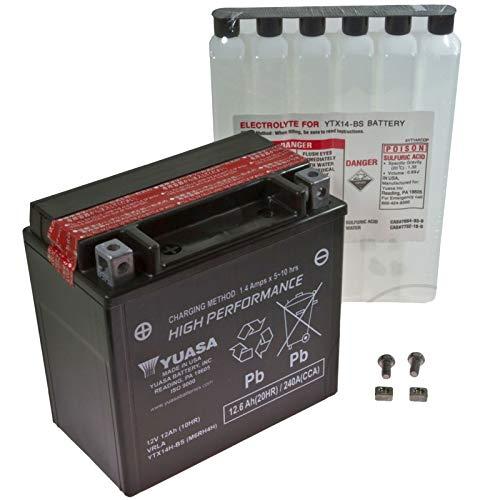 AGM Bateria Husqvarna TE 610E de LT e-start 00–01Yuasa ytx14h de BS Dry