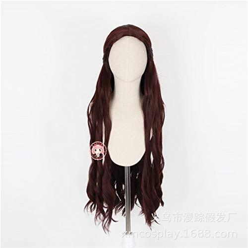Una cancin de hielo y fuego Juego de tronos Melisandre Cosplay pelucas mujeres pelo largo ondulado Festival fiesta disfraz pelucaD-2309