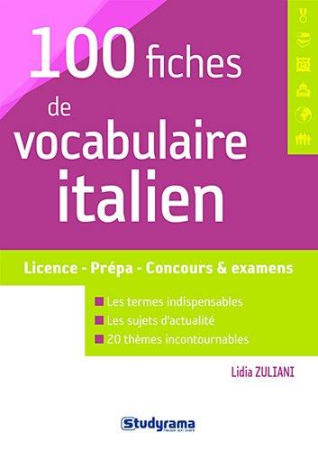 100 fiches de vocabulaire italien