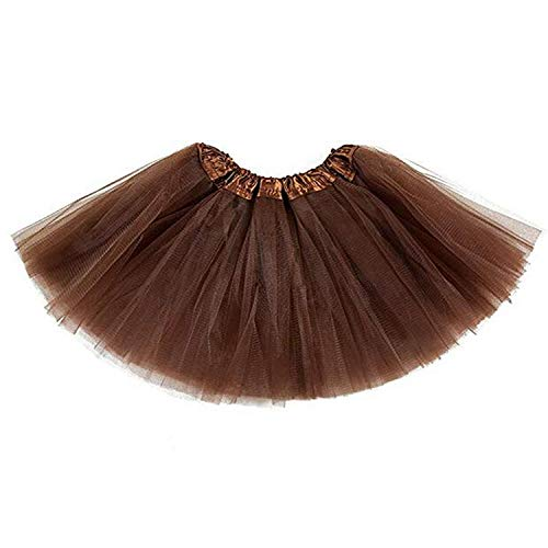 belababy Baby Tutu Skirt, Infant Tutus, 5 Layers Tulle Dress Up for Baby Girls &Toddlers Coffee
