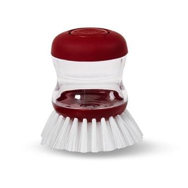 KitchenAid Soap Dispensing Palm Brush, Red