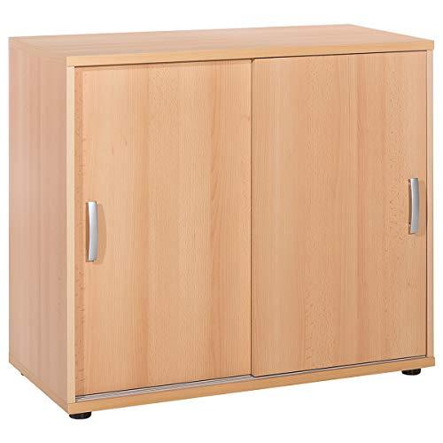 Möbelpartner Schiebetürenschrank PICO | HxBxT 780 x 850 x 395 mm| Buche