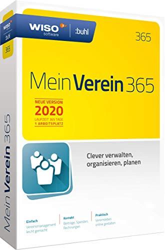 WISO Mein Verein 365 (aktuelle Version 2020) Clever verwalten, organisieren und planen|Standard | Disc in Standardverpackung