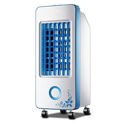 YANGLOU - Ventilador de aire acondicionado- Ventilador de aire acondicionado portátil, refrigerador de evaporaciones móviles Humidificador de ventilador de refrigeración con 4 ruedas universales Dormi