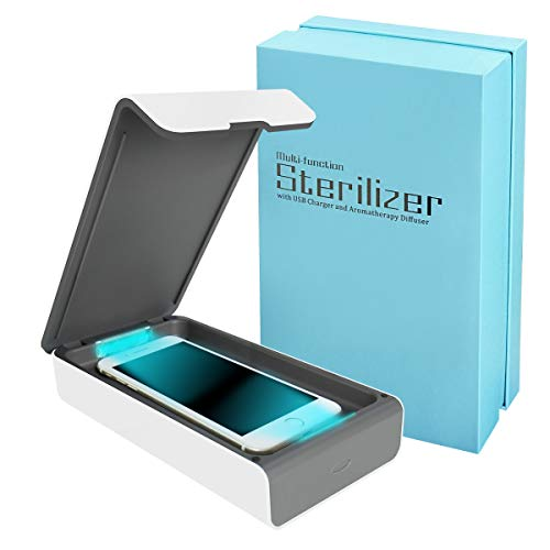 Portable UV Cell Phone Sanitizer with USB Charger – Multi-Use UV Light Disinfection for Smartphone...