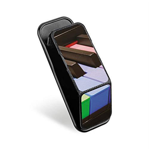 DeinDesign Cover kompatibel mit CLCKR Smartphone Halterung Ausziehbarer Griff Fingerhalter Ständer Finger-Halterung Handyhalterung Schwarz Klavier