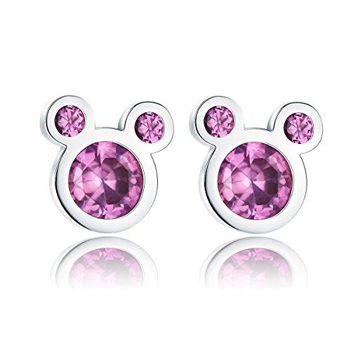 Cute Mouse Pink Earrings by Presentski