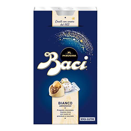 Baci Perugina Cioccolatini Bianchi Ripieni di Gianduia e Nocciola, 200g