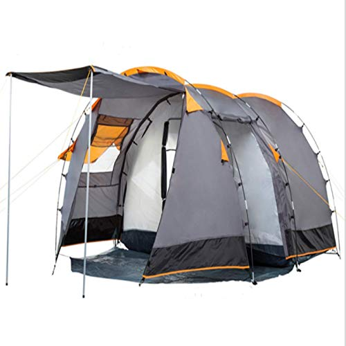 Lightweight Convenient Tunnel Tent, 410 X 260 150 Cm4 Person, Suitable Forcamping Invarious Terrain Occasions,100 Percent Waterproof Uv Protection
