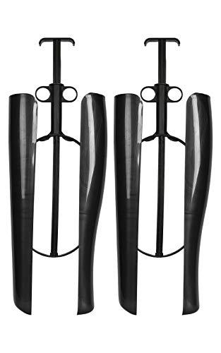 Kaps Automatischer Stiefelspanner mit Spannfeder und Griff, Schaftformer für Stiefel, Schwarz, 1 Paar, 35 cm, Made In Europe