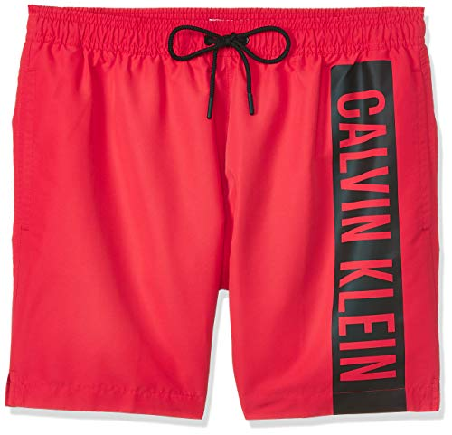 Calvin Klein Herren Medium Drawstring Badehose, Rot (High Risk XBG), Small